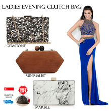 Bag♥Clutch Bag♥Handbag♥Marble Design♥Evening Gown♥Cosmetic Mirror♥Mini Mirror♥Small Mirror♥FREEPouch