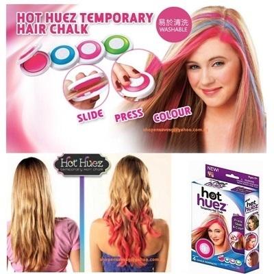 HOT HUEZ ON SALES 4 HAIR CHALKS TEMPORARY HAIR COLOUR CHALK