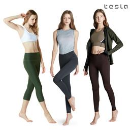 ☆TESLA YOGA PANTS☆ Women Leggings Capri Long Pants/Short Pants/Pocket Pants
