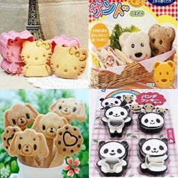 Cute Cookies Cutter/Sandwich Mould/Sushi Mould - Hello Kitty Panda Bear Micky Miffy Pooh Doraemon Stitch