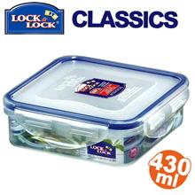 LOCK&LOCK Square Short Food Container 430ml HPL852
