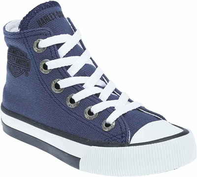 40e8c702a076 Qoo10 - Harley-Davidson Kids Patch Canvas Casual Sneakers   Kids Fashion
