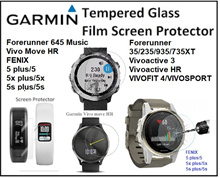 Garmin Vivoactive 3 HR Approach s6 FENIX 5 x s Forerunner 35 235 935 735XT Tempered Glass Protector