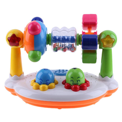 For Baby Cognitive Toys Wooden Sound Toy Educational Toy Cartoon Mouse Toys