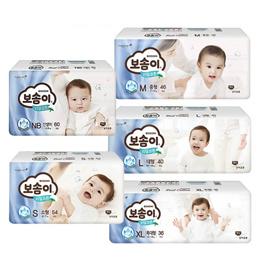 韓國Bosomi 寶舒美頂級美國棉紙尿褲NB/S/M/L/XL(3包x2箱購)-五種尺寸可選-廠送