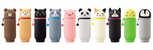 Price Down! Limited Time! Lihit Smart Fit Puni Labo Animals Pen Case A-7712/A-7714 (Punilabo)