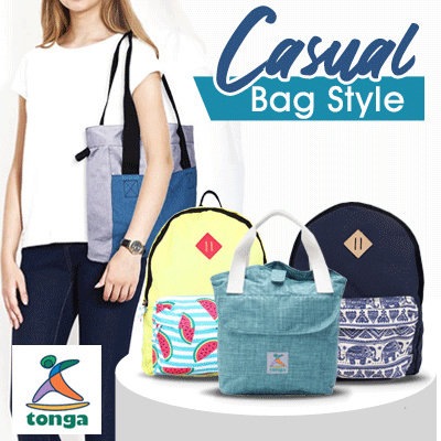 TONGA BAG UNISEX BACKPACK // CANVAS BAG COLLECTION
