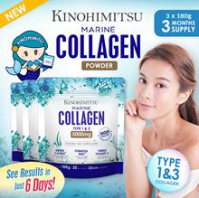 Kinohimitsu Marine Collagen 3mth supply [Collagen Type 1 n 3 Skin Joint] *Halal Certified* Fat Free