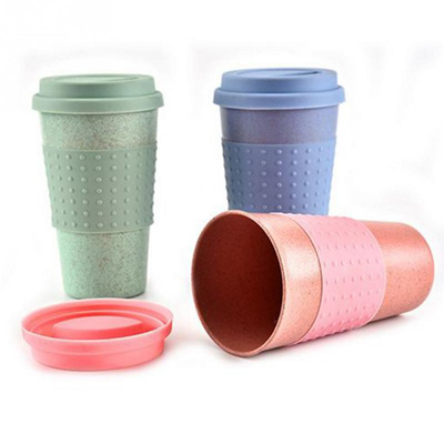New Wheat Straw Plastic Coffee Cups