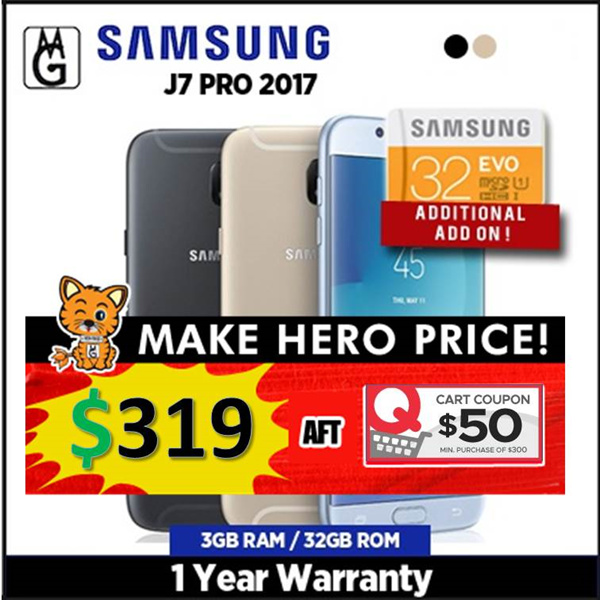 SAMSUNG J7 PRO 2017 / 3GB RAM / 32GB ROM /1yr Warrany. SAMSUNG Official Deals for only S$999 instead of S$0