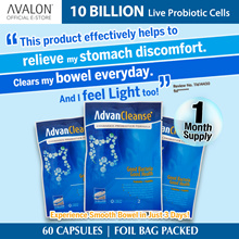 20% OFF! (no min.) 10 BILLION LIVE PROBIOTIC CELLS GUT HEALTH - AVALON AdvanCleanse