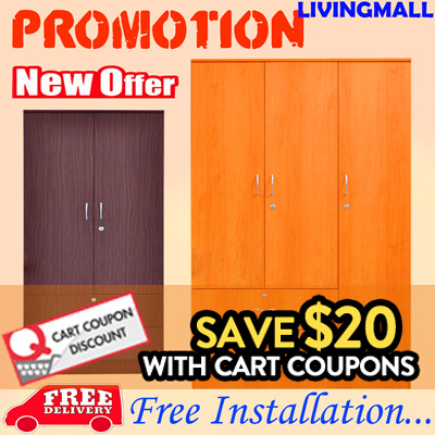3 DOOR WARDROBE_LOW PRICE!!! FREE DELIVERY AND FREE INSTALLATION!!! LIMITED OFFER!!!! Deals for only S$229 instead of S$0