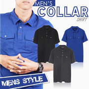 NEW! Mens Collar Shirt 3 Color High Quality - Pakaian pria kemeja atasan collar shirt kaos pria