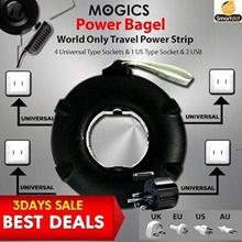 GEN 2 MOGICS BAGEL Universal Travel Power Strip (black/white)