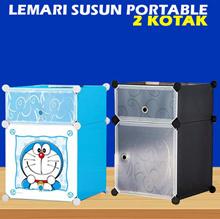 DIY Lemari Susun Plastik Portable - Bisa Disusun Sesuai Keinginan / 2 kotak