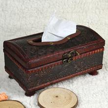 Retroooden Rectangular Paper Cover Case Tissue Box Napkin Holder Home Decor