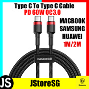 Baseus Cafule Type C to Type C Cable PD 60W QC3.0 3A Quick Charge Cable Samsung S9 Note9 HUAWEI OPPO