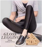 KM Womens Sexy PU Faux Leather/Glossing Leggings [2 Style] [Local Seller] ~Buy 4 in 1 Shipping Fee~