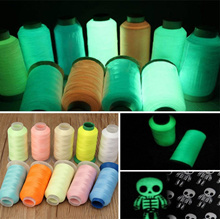 3000 Yards Polyester Glow Thread Spool Cross-stitch Knitting Sewing Embroidery Luminous Threads