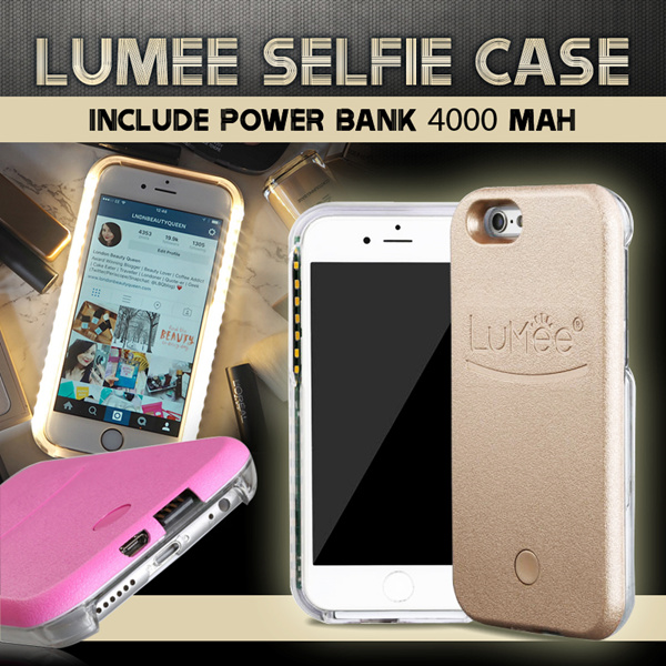 LUMEE SELFIE CASE include POWER BANK 4000 mAh for IPHONE SE | IPHONE 5 | IPHONE 6 | IPHONE 6 PLUS | SAMSUNG S6 EDGE Deals for only Rp99.000 instead of Rp99.000