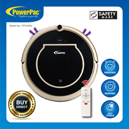 PowerPac Smart Robotic Vacuum Cleaner with Automatic Return And Wet / Dry Options (PPV3200)