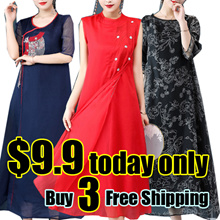 【buy 3 free shipping】2018 NEW CheongSam / Qipao / Traditional Ethnic Embroidery SILK DRESS /PLUS SIZ