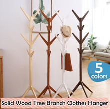 Solid Wood Tree Branch Clothes Hanger / Garment Rack / Standing Laundry Hanger