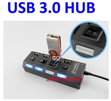 USB 3.0 Hub 7 PORTS 4 PORTS Option for individual Led switch or Slim ultra portable Windows and MAC
