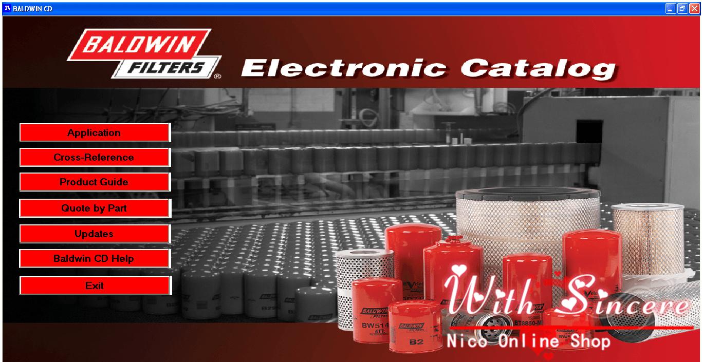 Nico ShopNico Shop Baldwin Filter Product Catalog Filter Interchange EPC01