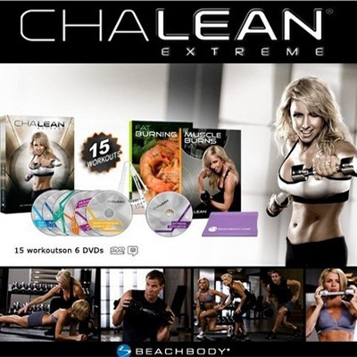 SG Chalean Extreme 7 Disc DVD Set Home Fitness Gym Workout Chalene Johnson  Beachbody