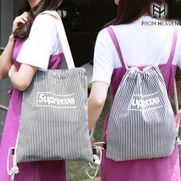 [FROMHEAVEN官方旗艦店]Superme直紋束口肩背/後背包