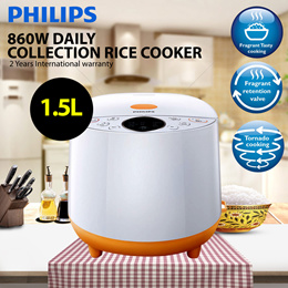 Philips 860W Daily Collection Rice cooker HD4514   1.5L   2 Years International warranty