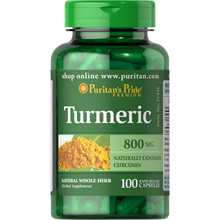 [SG] Puritans Pride 100 Caps Turmeric 800 mg Heath Supplement. Made in USA