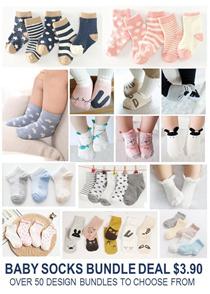 [ORTE]  Baby Girls Boys Socks Bundle Deals ★ WinterSocks ★ Good Quality ★ 100% cotton ★ Towel Socks
