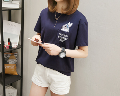 f394151f Loose Casual Tshirt Girl Cute Tee Korean short Sleeve T-shirt Women New  Cartoon print