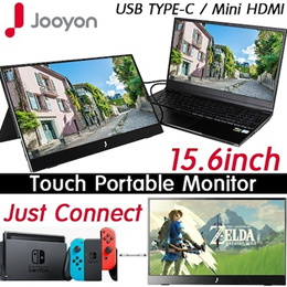 [Jooyon] Touch-Carry View Portable Monitor V15FP / 15.6inch / 1080P Touch Screen Slim /Flick Free