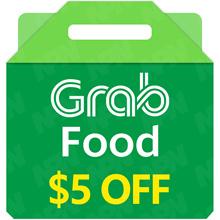 GrabFood $5 E-Voucher (Promo Code) 🍴SGD5 Off/Gift Voucher/Food Delivery/Grab Gift/Voucher Code🍴