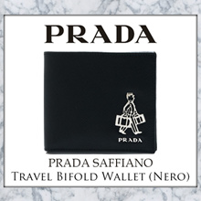 Prada Saffiano Travel Bifold Wallet (Nero)