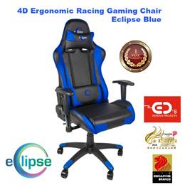 Eclipse 4D Ergonomic Racing Gaming Chair - Eclipse Blue4D 인체 공학적 레이싱 게임 의자 이클립스 - 블루 이클립스