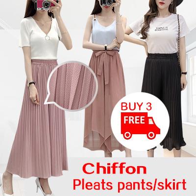 cc497f78b1d15 Qoo10 - Pleats pants/skirt : Women's Clothing