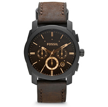 *FOSSIL GENUINE* Fossil Machine Flight Chronograph Brown Dial Mens Watch FS4656. Free Shipping!