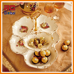 3-Tier Butterfly Cake Stand  European style   High Quality Porcelain Plates  Beautiful Display