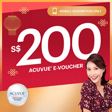 $200 ACUVUE voucher at $168 ◆ Complimentary $28 Ikea Gift Card! *1 per unique user