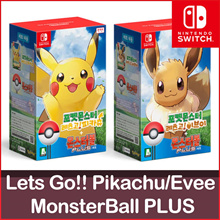 ◆Pokemon Lets Go MonsterBall Plus Pikachu Eevee Nintendo Switch