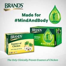 1 pack Brand's Essence of Chicken 6x70gm + 1 pack Bacopa 6x70gm