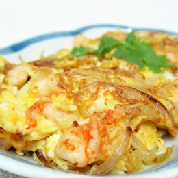 [食福閣 SHI FU GE] Prawn Omelette 虾仁蛋