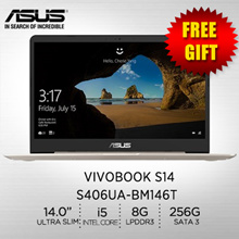ASUS VivoBook S14 S406UA-BM146T /14.0/ Intel® Core™ i5-8250U/ SATA3 256G /2 Year International