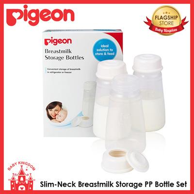 Set Botol Penyimpanan ASI Pigeon Slim-Neck