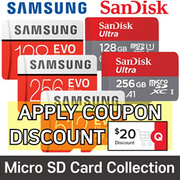 Samsung Sandisk  Micro SD Card Collection  EVO Plus 256GB with SD adapter