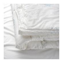 IKEA LEN STJARNA Quilt untuk bayi 110x125 cm anti lembab putih/biru
